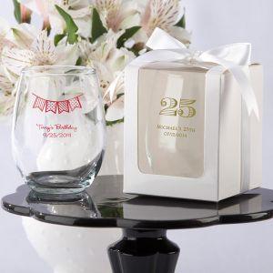 Personalized Birthday Stemless 9 oz Wine Glass
