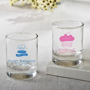 Personalized Birthday Design Shot Glass Favors