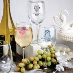 Personalized Wine Glass Party Favors