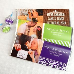 Photo Hershey's Chocolate Bar Favors - Wedding
