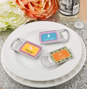 Personalized Tropical Bottle Opener Wedding Favors