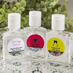 Personalized Tropical Hand Sanitizer Favors