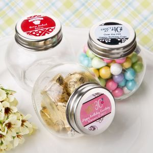 Personalized Birthday Design Candy Glass Jar Favors