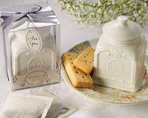 Victorian Tea Porcelain Tea Caddy Favor