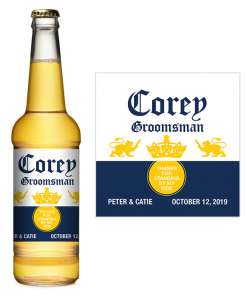 Corona Extra Groomsman Beer Label